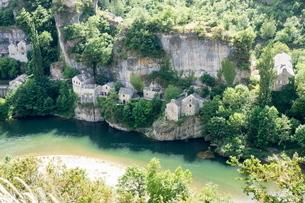 Castle Bouc, Gorges du Tarnの写真素材 [FYI03762336]