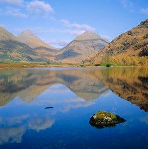 Glen Etive, Highlands, Scotlandの写真素材 [FYI03762376]