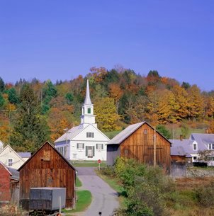 Waits River village, Vermont, New England, USAの写真素材 [FYI03762418]
