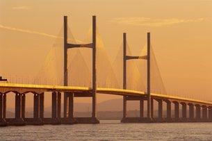 New, second, Severn Bridge, River Severn, Avonの写真素材 [FYI03762512]