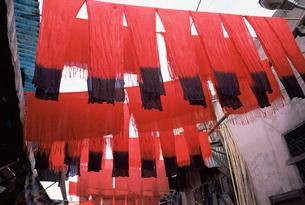 Dyers' souk, Marrakesh (Marrakech)の写真素材 [FYI03762617]