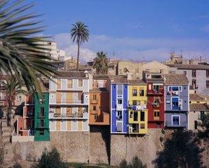 Villajoyosa, Costa Blanca, Valenciaの写真素材 [FYI03762679]