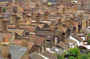 Terraced rooftopsの写真素材 [FYI03762697]