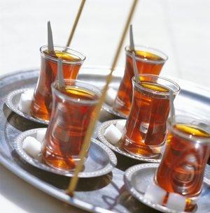 Turkish Tea, Turkey, Eurasiaの写真素材 [FYI03762746]