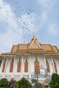 The Throne Hall, The Royal Palace, Phnom Penh, Cambodia, Indochina, Southeast Asiaの写真素材 [FYI03763063]