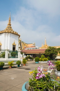 The Royal Palace, Phnom Penh, Cambodia, Indochina, Southeast Asiaの写真素材 [FYI03763075]