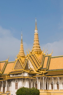 The Throne Hall, The Royal Palace, Phnom Penh, Cambodia, Indochina, Southeast Asiaの写真素材 [FYI03763076]
