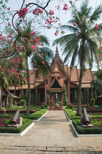 The National Museum, Phnom Penh, Cambodia, Indochina, Southeast Asiaの写真素材 [FYI03763079]