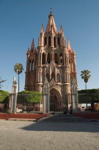 La Parroquia, church notable for its fantastic Neo-Gothic exterior, San Miguel de Allende (San Migueの写真素材 [FYI03763170]