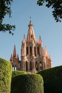 La Parroquia, church notable for its fantastic Neo-Gothic exterior, San Miguel de Allende (San Migueの写真素材 [FYI03763171]