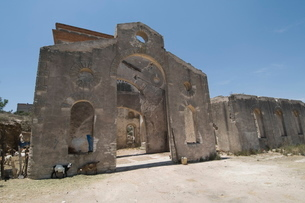 Old silver mine, Mineral de Pozos (Pozos), a , Guanajuato State, Mexico'の写真素材 [FYI03763222]