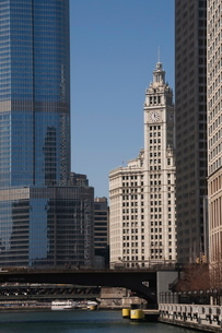 The Wrigley Building, Chicago, Illinois'の写真素材 [FYI03763260]