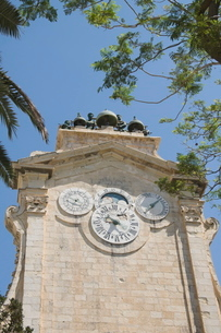The clock tower with bells, Grand Master's Palace, Valletta, Maltaの写真素材 [FYI03763274]