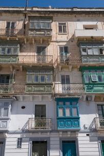 Typical window architecture, Valletta, Maltaの写真素材 [FYI03763297]