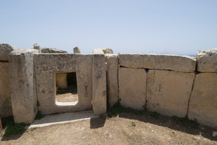 Mnajdra, a Megalithic temple constructed at the end of the third millennium BC, Maltaの写真素材 [FYI03763307]
