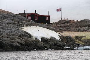 British Base and Post Office, Port Lockroy, Antarctic Peninsula, Antarcticaの写真素材 [FYI03763395]