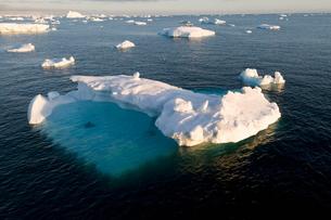 Ice in the Antarctic Sound, The Antarctic Peninsula, Antarcticaの写真素材 [FYI03763398]