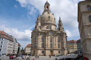 Frauenkirche (Church of Our Lady), Dresden, Saxonyの写真素材 [FYI03763535]