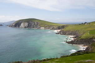 View from Slea Head Drive, Dingle Peninsula, County Kerry, Munsterの写真素材 [FYI03763546]