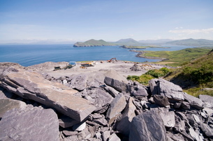 The slate quarry, Valentia Island, Ring of Kerry, County Kerry, Munsterの写真素材 [FYI03763551]