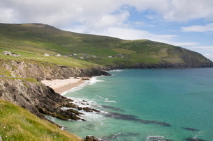 View from Slea Head Drive, Dingle Peninsula, County Kerry, Munsterの写真素材 [FYI03763552]