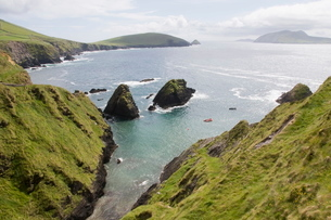 View from Slea Head Drive, Dingle Peninsula, County Kerry, Munsterの写真素材 [FYI03763555]