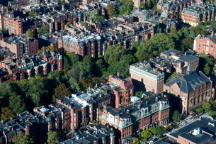 Aerial view of Boston from the Prudential Sky Walk, Boston, Massachusetts, New England'の写真素材 [FYI03763579]