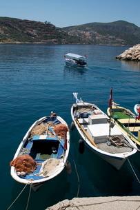 Harbour at Kalkan, a popular tourist resort, Antalya Province, Anatolia, Turkey Minor, Eurasiaの写真素材 [FYI03763580]