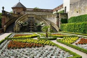 The Princes Garden, Marienberg Fortress, Wurzburg, Bavariaの写真素材 [FYI03763688]
