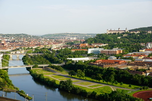River Main, Wurzburg, Bavariaの写真素材 [FYI03763701]