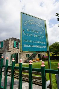 Museum of Nevis History, Charlestown, Nevis, St. Kitts and Nevis, Leeward Islands, Caribbeanの写真素材 [FYI03763732]