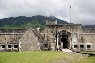 Brimstone Hill Fortress, St. Kitts, St. Kitts and Nevis, Leeward Islands, Caribbeanの写真素材 [FYI03763756]
