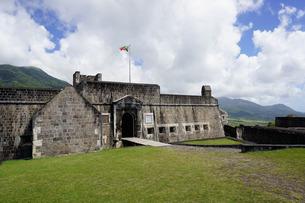 Brimstone Hill Fortress, St. Kitts, St. Kitts and Nevis, Leeward Islands, Caribbeanの写真素材 [FYI03763758]