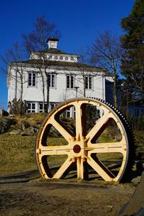 Restaurant on Mount Floyen, Bergen, Hordaland, Norway, Scandinaviaの写真素材 [FYI03763835]
