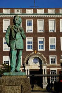 Statue of composer Edvard Grieg, Bergen, Hordaland, Norway, Scandinaviaの写真素材 [FYI03763922]