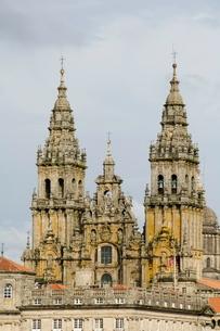 Santiago Cathedral, Santiago de Compostela, Galiciaの写真素材 [FYI03764174]