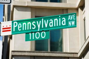 Pennsylvania Avenue, Washington D.C. (District of Columbia)'の写真素材 [FYI03764315]