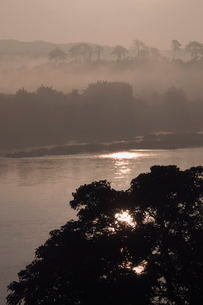 Mekong River, Golden Triangle area of Thailand, Southeast Asiaの写真素材 [FYI03764422]
