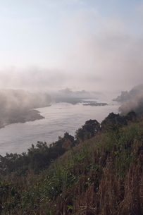 Mekong River, Golden Triangle area of Thailand, Southeast Asiaの写真素材 [FYI03764423]