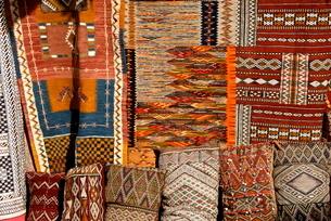 Oriental carpets for sale, Medina, , Marrakechの写真素材 [FYI03764641]