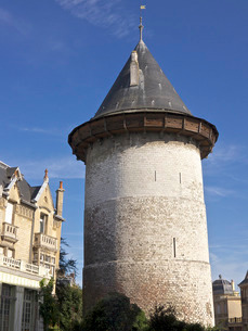Joan of Arc Tower dating from the 13th century, Rouen, Normandyの写真素材 [FYI03764680]