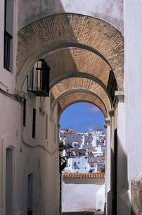 Arch of the Monjas, Vejer de la Frontera, Andaluciaの写真素材 [FYI03764719]