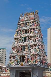 Sri Mariamman Templetown, Singapore, Southeast Asiaの写真素材 [FYI03764754]