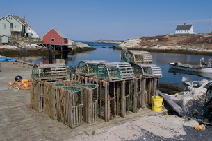 Peggy's Cove, Nova Scotiaの写真素材 [FYI03764902]