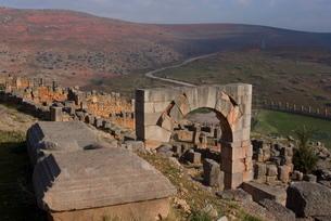 Arch of Q. Memmius Rogatus, Tiddis, Algeriaの写真素材 [FYI03764927]