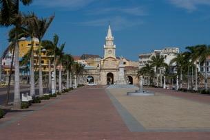 The City Walls (Ciudad Amurallada), Cartagena, Colombiaの写真素材 [FYI03764968]