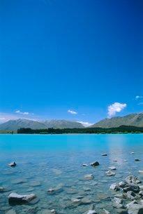 Lake Tekapo, Mount Cook National Park, Canterbury, South Island, New Zealandの写真素材 [FYI03765438]