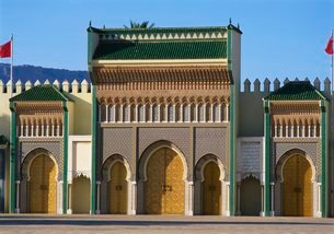 Royal Palace in Fes, Front Viewの写真素材 [FYI03765460]