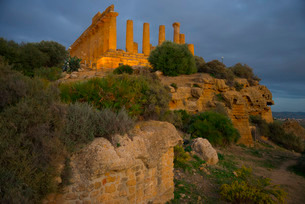 Temple of Juno, Valley of the Temples, Agrigento, Sicilyの写真素材 [FYI03765612]