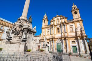 Church of San Domenico, Palermo, Sicilyの写真素材 [FYI03765628]